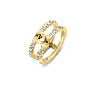 Trista CZ Twisted Ring Gold Melano