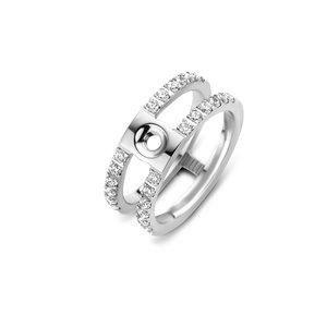 Trista CZ Twisted Ring Silver Melano