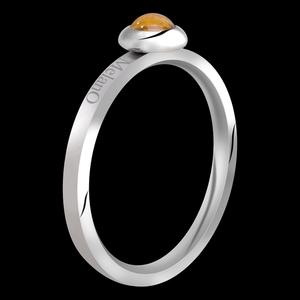 Edelsteen Tiger Eye ( Tijgeroog ) Ring 2mm Stainless Steel Melano