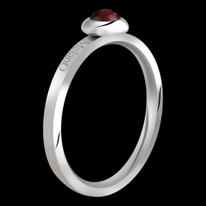 Edelsteen Rhodoliet Ring 2mm Stainless Steel melano