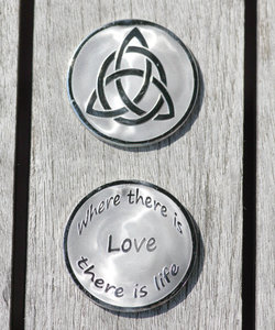 Large Charmed ( Triquetra ) - Where There is Love Silver