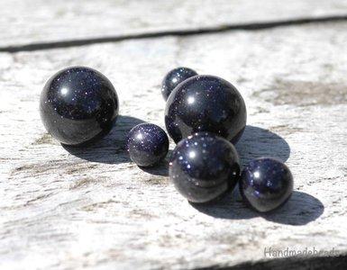 Purple Goldstone Edelsteen Cateye Melano