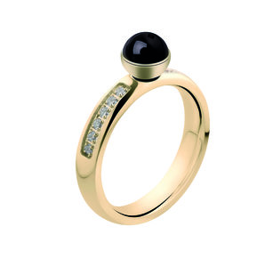 Tracy CZ Twisted Ring Melano Gold