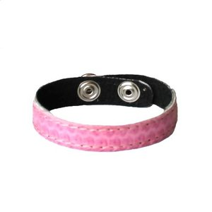Leren Armband Snake Roze 12mm breed
