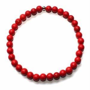 Rood Koraal Edelsteen armbanden Medium ( polsmaat 16,5 -18cm )
