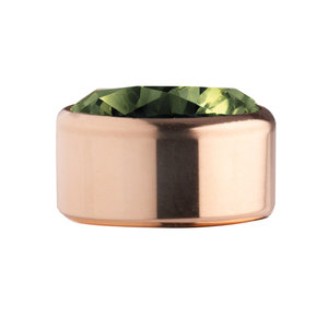 Olive Rose Gold Stainless Steel CZ Zetting Opschroef MelanO