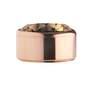 Champagne Rose Gold Stainless Steel CZ Zetting Opschroef MelanO