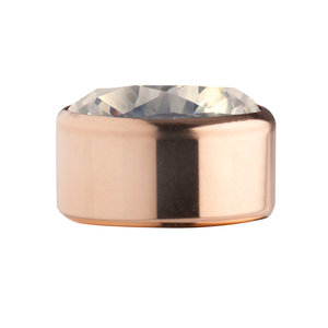 Citrine Rose Gold Stainless Steel CZ Zetting Opschroef MelanO