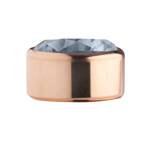 Jeans Blue Rose Gold Stainless Steel CZ Zetting Opschroef MelanO