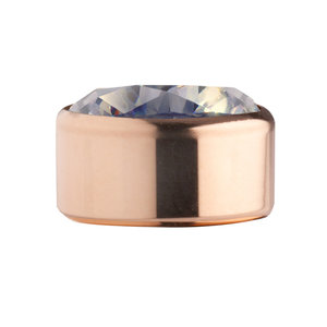 Moonstone Rose Gold Stainless Steel CZ Zetting Opschroef MelanO