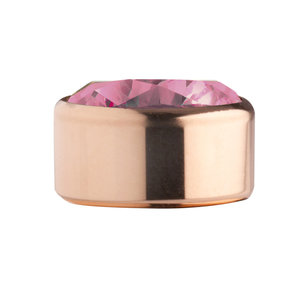 Red ( mat rose ) Rose Gold Stainless Steel CZ Zetting Opschroef MelanO