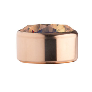 Smoked Topaas Rose Gold Stainless Steel CZ Zetting Opschroef MelanO