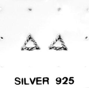 Triangle Oorstekers Zilver 925