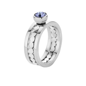 Trista Twisted MelanO Ring Silver