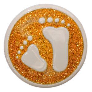 Baby Feet Orange Glitter Babouche Baboos Drukker