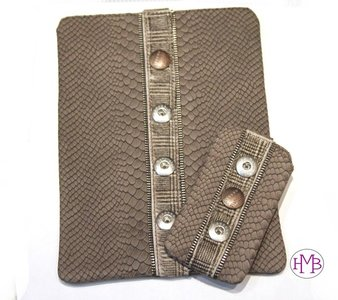 Ipad/Tablet Sleeve Zipper Taupe Prins Babouche Baboos