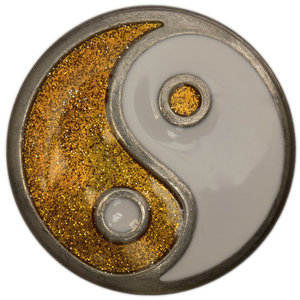 Yin yang gold Babouche Baboos Drukker