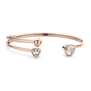 Twisted Trio Stone Armband MelanO Rose