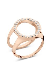 Friends Cover ring met CZ Rose Gold