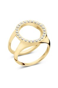 Friends Cover ring met CZ Gold