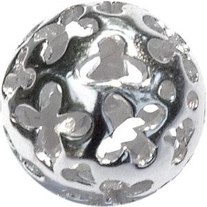 Open zilveren bal voor cateye ring 01SVP2226