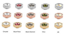 Octagon Vivid Melano  (Swarovski the middle stone)