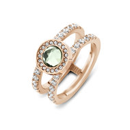 Trista CZ Twisted Ring Rose Melano