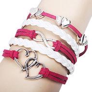 Oneindige liefde Dubbel Hart Armband