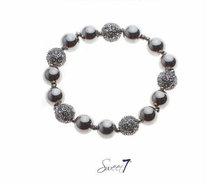 Sweet7 Bracelet Silver met cz