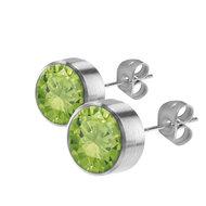 Lime Earrings CZ 7mm MelanO