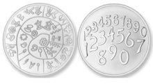 Numbers - Phaitos LARGE MAT Silver Mi Moneda