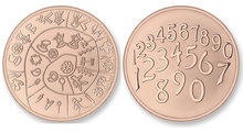 Numbers - Phaitos SMALL Rose Gold Mi Moneda