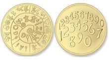 Numbers - Pathos MAT LARGE Gold Mi Moneda