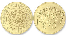 Numbers - Pathos SMALL Gold Mi Moneda
