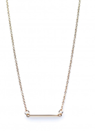 Square Karma Tube Necklace Goldplated Silver