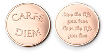 Carpe Diem - Life The Live  Rose Gold Mi Moneda