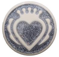 Queen silver Glitter Babouche Baboos Drukker
