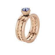 Trista Twisted MelanO Ring Rose Gold