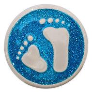 Baby Feet Aqua Glitter Babouche Baboos Drukker