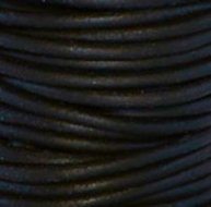 3mm Rond zwart leder  mm-402