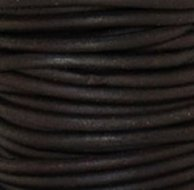 3mm Rond donker bruin leder mm-410