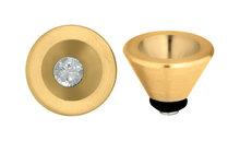 Conisch Twisted MelanO Gold RVS Zetting
