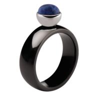 Twisted Tracy Black Ceramic MelanO Ring