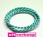 50cm-Mi-Moneda-Zijde-Armband-Turqooise