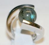 Zilver-925-Briljant-Cateye-Ring-Combi-MelanO-Diverse-maten